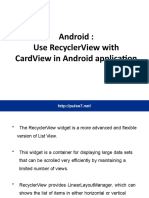 recyclarviewAndroid
