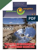 Proyectos de  Mejoramiento Capacidad Energética. Plataforma Energética Cuaderno Coyuntura 17