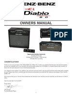 El Diablo 60 Owners Manual