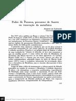 Pedro Fonseca Precursor de Suarez Na Renovação Da Metafísica