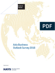 The Economist Corporate Network Asia Business Outlook Survey 2018