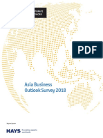 The Economist Corporate Network Asia Business Outlook Survey 2018
