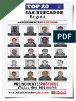 La Fiscalía revela el rostro de los 20 hombres que más roban en el país