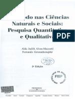 ALVES-MAZZOTTI e GEWANDSZNAJDER - O Método Nas Ciências Naturais e Sociais (cap. 7)