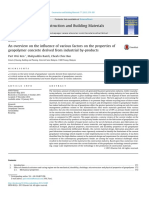 An Overview on the Influence of Various Factors on the Properties of Geopolymer Concrete Derived From Industrial by-products