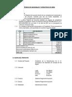 Informe Tecnico de Adicionales y Deductivos de Obra