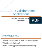 ADE Lecture 27- Online Collaboration Applications.pptx