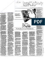 Articles About Ben on 100th Birthday