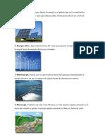 Clases de Energia Renovables