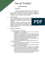 Plan de Trabajo FIEE 2017-2018