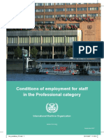 Conditions of Employment for Professional Staff
