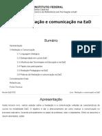 Livro 3 - Mediação e Comunicação Na EaD
