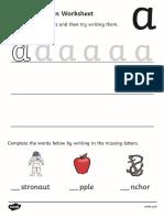 T L 024 Letter Formation Worksheets