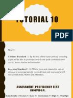 Tutorial 10