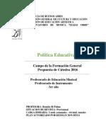 Programa de Examen Politica Educativa