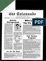 The Colonnade -  November 1, 1974
