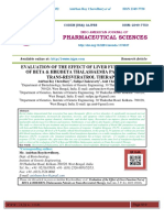 EVALUATION OF THE EFFECT OF LIVER FUNCTION TEST OF BETA & HBE/BETA THALASSAEMIA PATIENTS ON TRANS-RESVERATROL THERAPY Anirban Roy Chowdhury1* , Sudipa Chakravarty2 , Amit Chakravarty 2