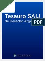 Tesauro SAIJ Derecho Argentino