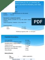 Variables Operacionales de La Unidad de Hidrotratamiento De