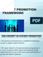 Export Promotion Frame Work in India