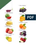 Frutas y Verduras en Ingles 20