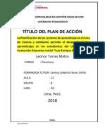 23.01.2018 Plan de Acción en Proceso de Modificación