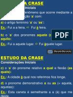 Crase (LÍNGUA PORTUGUESA)
