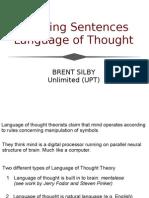 Thinking Sentences