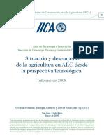 Situación y Desempeño Agricultura  IICA 2008 Palmieri et al