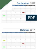 semester 1 calendar