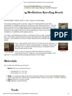 Making a Folding Meditation Kneeling Bench - Akom's Tech Ruminations