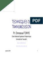 Technique de Transmission numérique et analogique