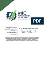 Ley de Emprendimiento_688-16_Régimen especial para el fomento a la creación y formalización de empresas..pdf