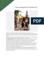 Danza de Origen Ladino Adoptada Por Los Indígenas de Guatemala