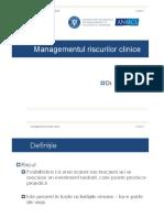 Dr. Vasile Cepoi - Management Riscuri Clinice