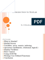 294638521 Introduction to Matlab Ppt