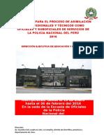 Prospecto Proceso Asimilacion Para Profesionales Tecnicos Para Oficiales Suboficiales