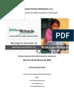 Síntesis Educativa Semanal de Michoacán al 19 de febrero de 2018