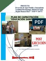 Plan de Capacitación Educación Sanitaria