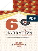 6 Encuentro Narrativa Programa