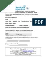 Formulario de Autorizacion Para La Tarjeta de Credito Ver2 Es
