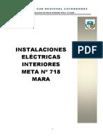 Instalaciones Eléctricas Interiores Meta Nº 718 Mara