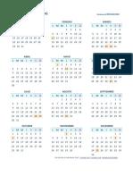 Calendario 2018 Una Pagina Per