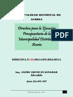 Directiva Del Ejecución Presupuestal
