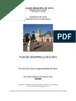 Plan de Desarrollo Cota 2012 2015