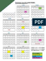 Calendario Escolar Curso 2017-18