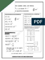 Formulario Algebra Lineal 1er Parcial
