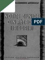 Notite Zilnice Din Razboiu (1916-1918)
