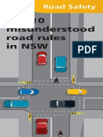 Drivers' Top 10 Misunderstood Road Rules NSW