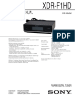 Sony Xdrf1hd Digital Am-Fm Tuner Service Manual